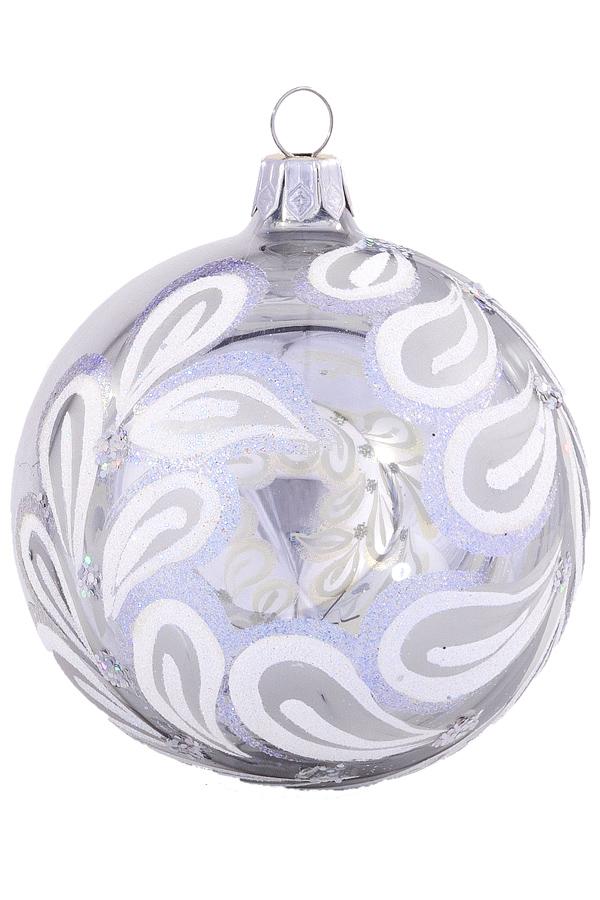 Украшение елочное ШАР 7,5 см стекло